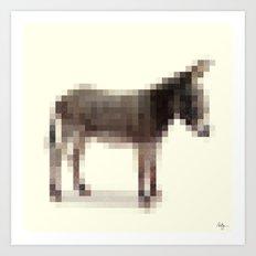 Censored Donkey Art Print