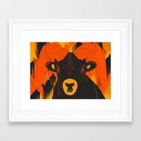 ram Framed Art Prints featuring Ram by  Matt Glasby