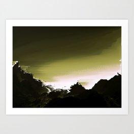 Dark Mountain Art Print