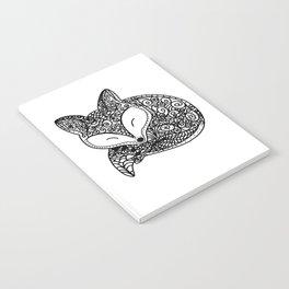 Black and White Mandala Fox Design Illustration Notebook