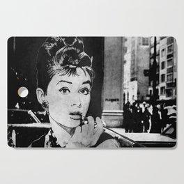 Miss Golightly - black Cutting Board