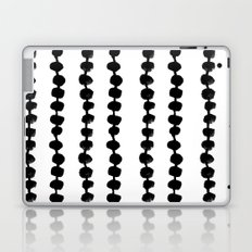 Linocut black and white dots pattern minimalist home decor nursery trendy dotted pattern Laptop & iPad Skin