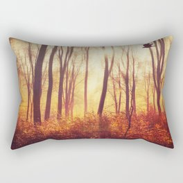 the art of falling apart - abstract trees in morning light Rectangular Pillow