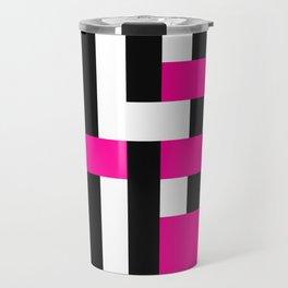 Licorice Bytes, No.18 in Black and Pink Travel Mug