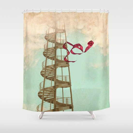 Stair way to nowhere Shower Curtain