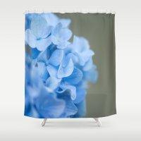 hydrangea Shower Curtains featuring hydrangea by studiomarshallarts