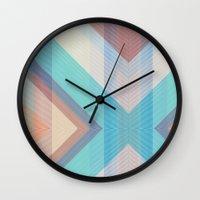 grid Wall Clocks featuring Grid by brokkoletti