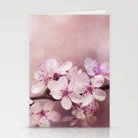 cherry blossom Stationery Cards featuring Cherry Blossom by LebensART Photography