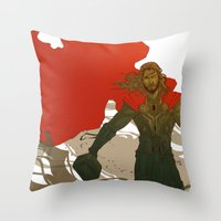 thor Throw Pillows featuring Thor by Pulvis