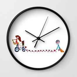 I'm in love | Be my Valentine | Kids Painting Wall Clock