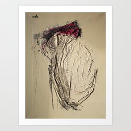 The Rose, Spray Painting on Canvas Art Print
