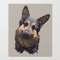 german Canvas Prints featuring German Shepherd by ArtLovePassion