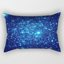 Vivid Blue gALaxY Stars Rectangular Pillow