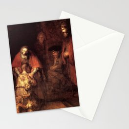 The Return of the Prodigal Son Painting By Rembrandt Stationery Cards