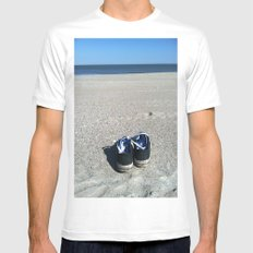 Beach Time Mens Fitted Tee White MEDIUM