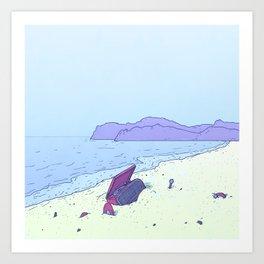 Beach Notes Art Print