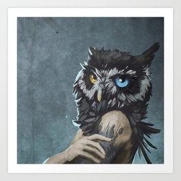 Human Owl Art Print