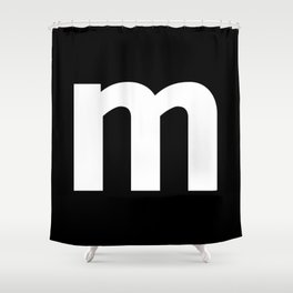 letter M (White & Black) Shower Curtain