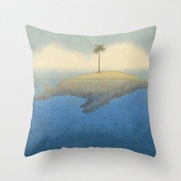 Peaceful Humpback Throw Pillow