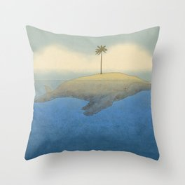 Peaceful Humpback Throw Pillow