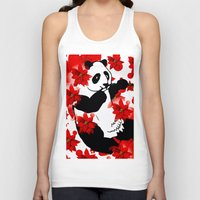 red panda Tank Tops featuring Panda by Saundra Myles