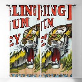 1938 Ringling Brothers and Barnum & Bailey Circus Tiger Act - Greatest Show on Earth Circus Poster Blackout Curtain