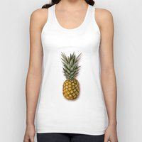 pineapple Tank Tops featuring Pineapple by Marta Li