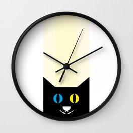Black cat #society6 #decor #buyart #artprint Wall Clock