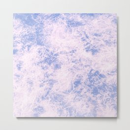 Pink and blue abstract pattern Metal Print