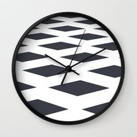 square Wall Clocks featuring Square by henrymade