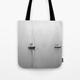 Foggy Harbor North Shore 6 BW Tote Bag