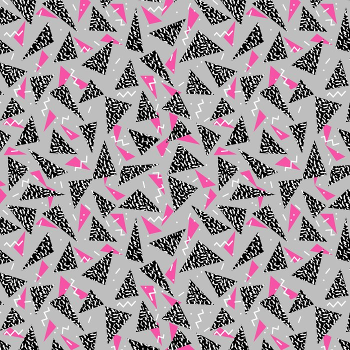 Trizza - triangle zig zag modern minimal trendy pattern print gender neutral non binary art for all Duvet Cover