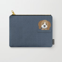 Beagle in a Pocket Carry-All Pouch