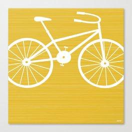 Yellow Bike by Friztin Canvas Print