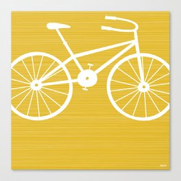 Yellow Bike by Friztin Canvas Print