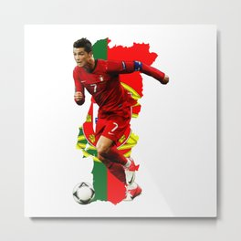 CR7 Ronaldo Portugal Metal Print