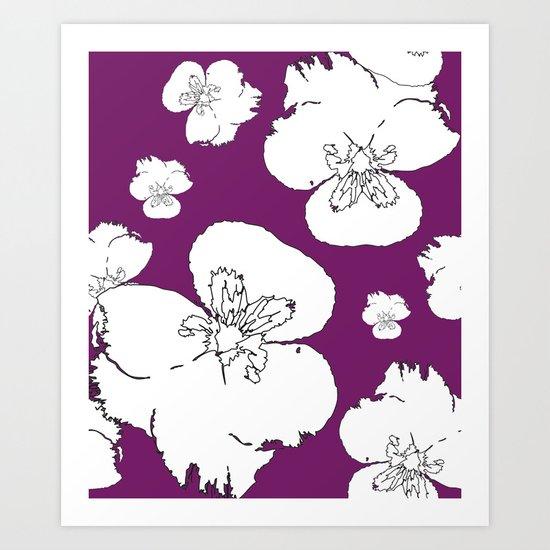 Purple Pansies Art Print