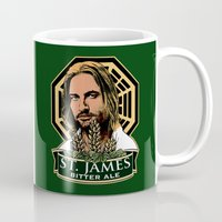 ale giorgini Mugs featuring St. James Bitter Ale by Ant Atomic