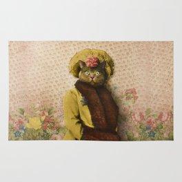 Lady Vanderkat with Roses Rug