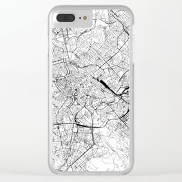 Rome White Map Clear iPhone Case