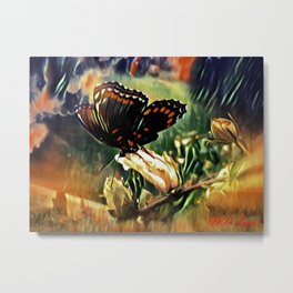 Butterfly Summer Metal Print