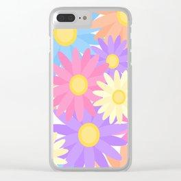 Floral Daisy Dahlia Flower Clear iPhone Case