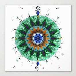 Peacock Mandala Canvas Print