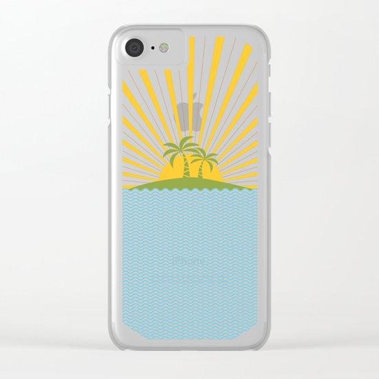Summer Sun Clear iPhone Case
