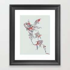 Floating in Deep Framed Art Print