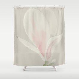 Botanical Brushstrokes ● Magnolia Blossom Shower Curtain