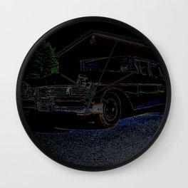 Monarch Richelieu Black Abstract Wall Clock