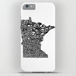 Typographic Minnesota iPhone Case