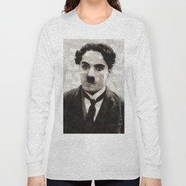 Charlie Chaplin, Compedy Legend Long Sleeve T-shirt