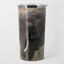 Wild Elephant Mother and Child Travel Mug